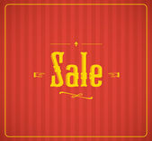 Vintage sale vector — Stock Vector