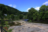 View of Llangollen in Denbighshire Wales UK — Stock Photo