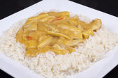 Coconut curry with rice — Stock Photo