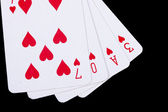 Love playing cards — Stock Photo