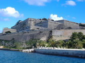 View of St. Angelo Fort from Grand Harbour side. Malta — Stock Photo