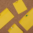 Post It Notes On Cork Board — Stock Photo
