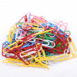 Colorfull paper clips — Stock Photo