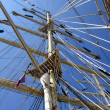 Stock Photo: Tall ships masts with rigging