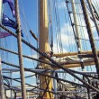 Tall ships masts with rigging — Stock Photo #29475205