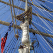 Tall ships masts with rigging — Stock Photo #29475229