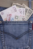 Money in a pocket — Stock Photo