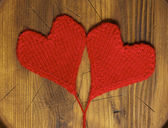 Knitted hearts — 图库照片