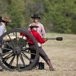 Civil War Re-enactment — Stock Photo
