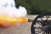 Civil War Cannon Fireing — Stock Photo