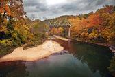 Autumn Bridge — Stock Photo