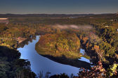 Autumn Scenic Overlook in Branson Missouri at Sunrise — Stock Photo