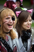 Two girls-cosplayers, Moscow, Russia — Stock Photo