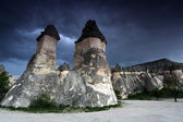 Rock formations near Goreme, Cappadocia, Turkey. — Stock Photo