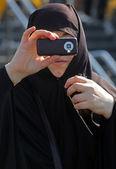 La donna musulmana un turista — Foto Stock