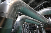 The steam pipes at thermal power plant — Stock Photo