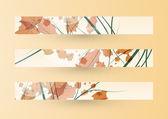 秋のバナー — ストックベクタ
