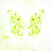 Leaves form a butterfly — Stock Vector