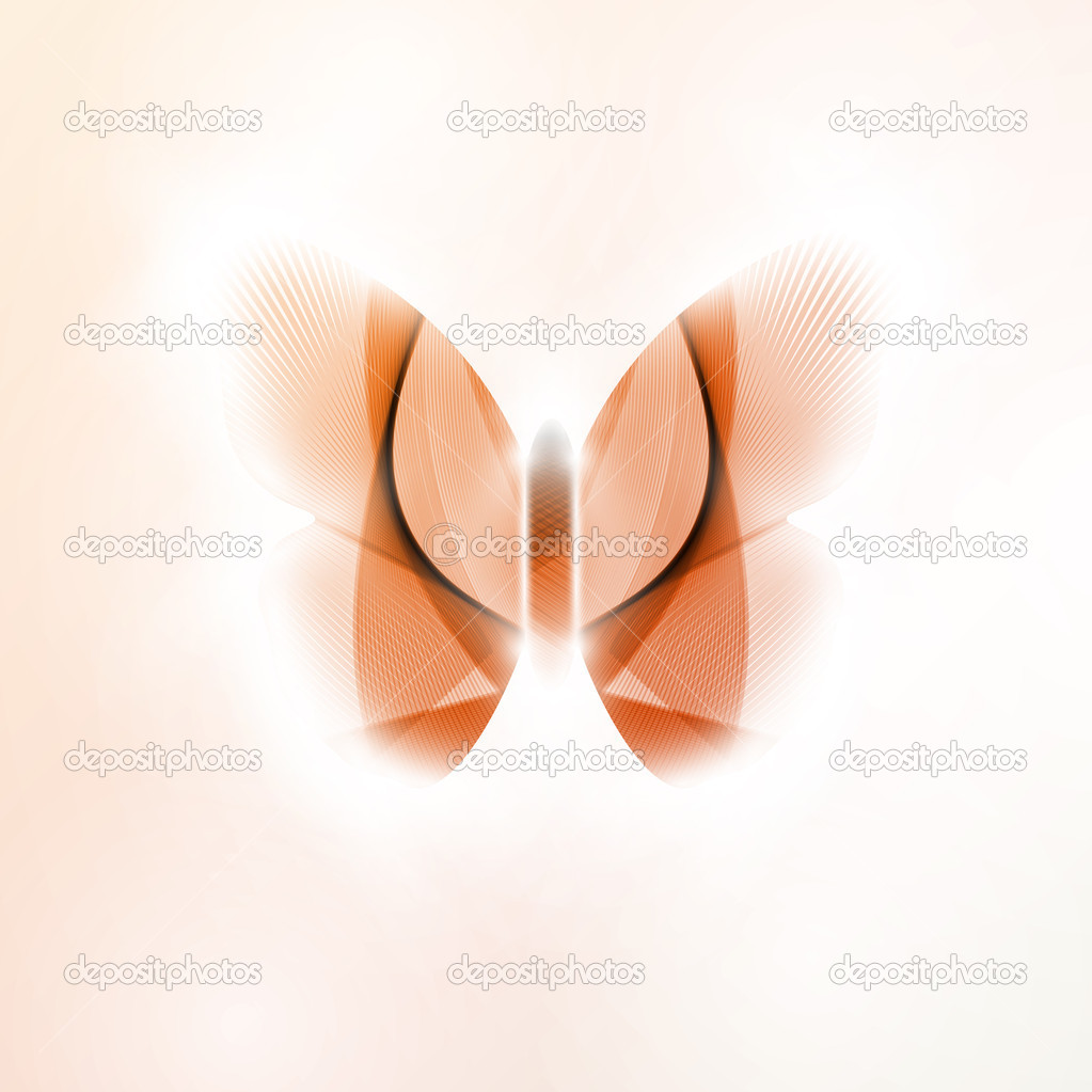 Abstract butterfly, futuristic vector illustration in light background eps10 — Stock Vector #13564596