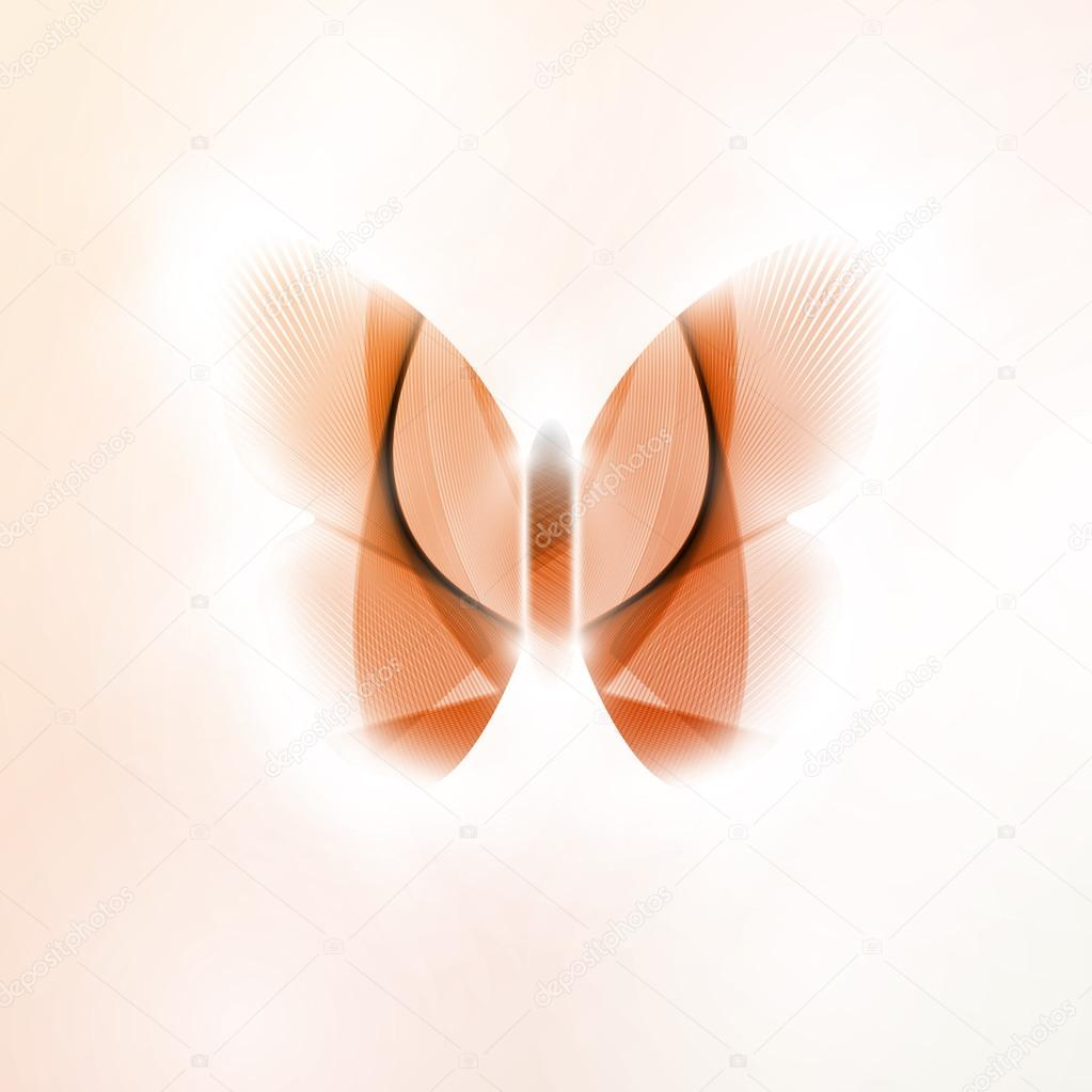 Abstract butterfly, futuristic vector illustration in light background eps10 — Imagens vectoriais em stock #13564596