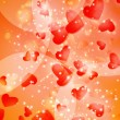 Valentines Hearts background — Imagen vectorial