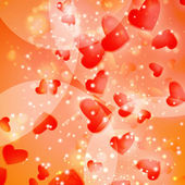 Valentines Hearts background — Stock Vector