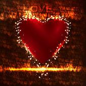 バレンタインの心の図 — ストックベクタ