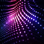 Illustrazioni astratte e luce al neon. — Vettoriale Stock