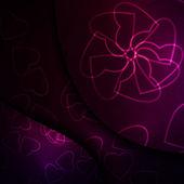 νέον καρδιές, φουτουριστικό εικονογράφηση. — Διανυσματικό Αρχείο