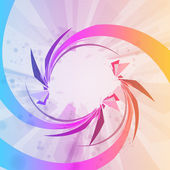 Abstraktní pozadí, barevné prvky. — Stock vektor