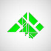 Símbolo de ecologia e meio ambiente — Vetor de Stock