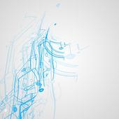 Futuristic technology illustration — Stockvektor