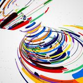 Futuristické abstraktní tvar ilustrace — Stock vektor