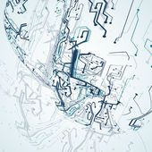 Futuristic technology illustration — Stock Vector