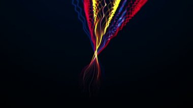 Abstract colorful lines, digital background, HD 1080p — Stock Video