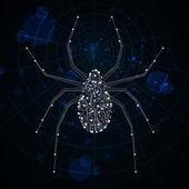 Circuit board vector background, technology illustration, spider illustration eps10 — Stock Vector