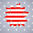 The abstract star with american flag — Stock Vector #29708653