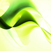Abstract green, wave background — Stock Vector