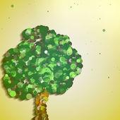 árvore de outono abstrato — Vetorial Stock