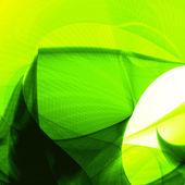 抽象的な緑、波背景 — ストックベクタ
