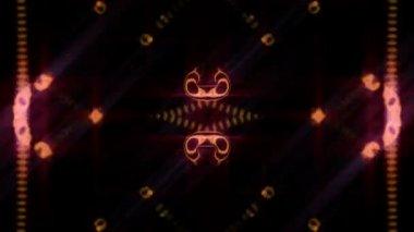 Spektrum linjer och ljus, abstrakta digitala bakgrund, hd 1080p, loop. — Stockvideo
