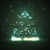 Circuit board background, christmas tree — Vector de stock