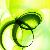 абстрактный фон зеленый, волна — Cтоковый вектор