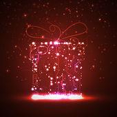 Płytka tle, prezent na boże narodzenie — Wektor stockowy