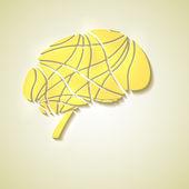 Cerebro creativo — Vector de stock