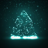 Circuit board background, christmas tree — Vetor de Stock