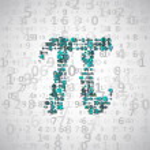The mathematical constant Pi — Stock Vector