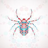 Abstract spider cartoon — Stock Vector