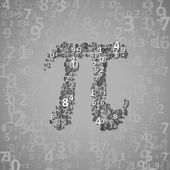 The mathematical constant Pi — Vector de stock