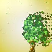 Abstract autumn tree — Stock Vector